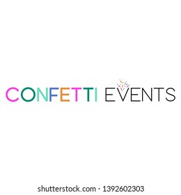 Modern, colorful and youthful logo design template for event planner
