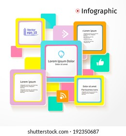 Modern colors layout design, flat background, vector illustration