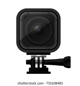 Modern compact action camera - extreme sport cam icon