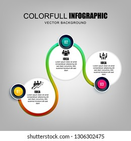 Modern and compact colorful infographics