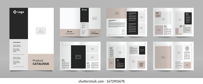 modern company catalogue brochure template