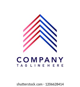 Modern company logo design vector