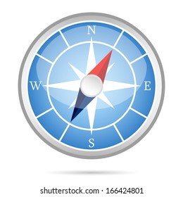 Modern compass icon isolated vector illustration
