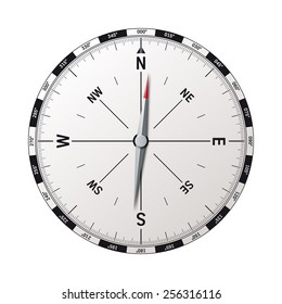 modern compass vector illustration with precise graphic