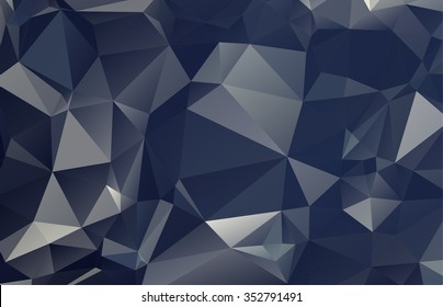 Modern complex polygonal mosaic gray, white colorful background, Vector illustration EPS10