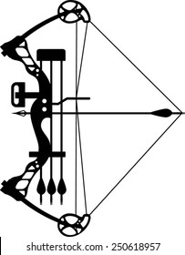 modern compound bow and arrow