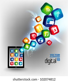 modern conceptual digital application social network design