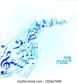modern conceptual music notes vector design