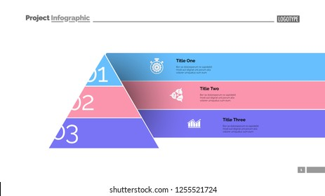 Modern cone staircase diagram slide template. Business data. Graph, diagram, design. Creative concept for infographic, report. Can be used for topics like strategy, management, visualization