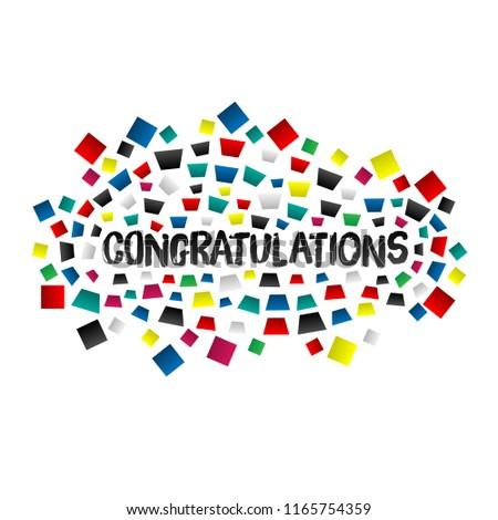 modern congratulations poster color drops vector stock vector