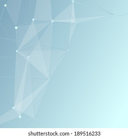 Modern connection background template - crystal. Vector illustration