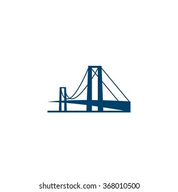 Modern Connection Bridge Building Logo Template