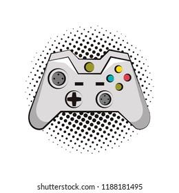 Modern console gamepad pop art