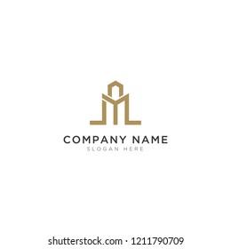 Modern construction Logo Template Design Vector, Emblem, Design Concept, Creative Symbol, Icon