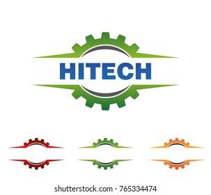 modern corporate advanced technology gear logo