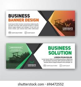 Modern corporate banner background design for letterhead, document header, web banner. Vector illustration