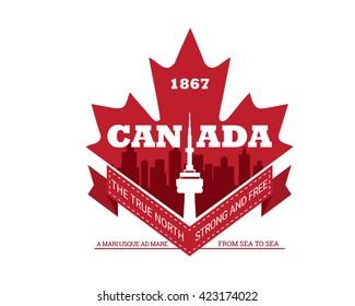 Modern Country & City Badge - Canada