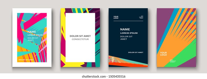 Modern cover collection design. Abstract retro 90s style texture of colorful neon lines. Striped trends background. Future geometric patterns. Design presentations, print, flyer, business cards