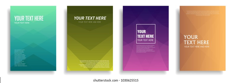 modern cover design with dynamic geometric colorful halftone gradient. vector template for magazine, presentation, poster, brochure in a4 size