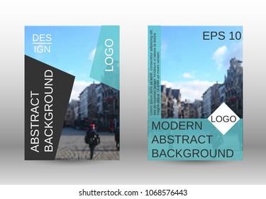 Modern cover design, magazine size a4.Set of two options. Future vector template for creating a fashionable abstract background for a brochure, poster layout, magazine. Eps 10.