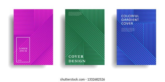 modern cover design template with colorful halftone gradient