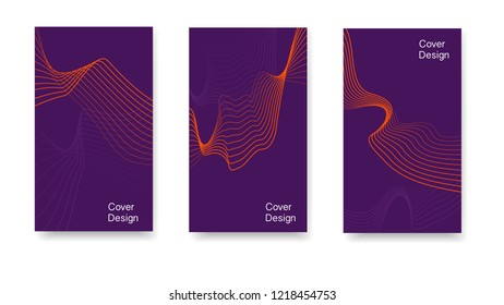 Modern cover with minimalist style. Smooth plastic lines, flight simulation The idea of the cover, card, corporate identity, printing, packaging