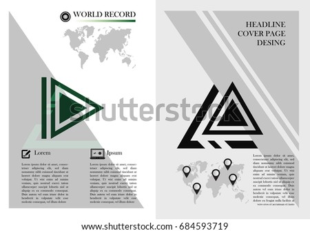 Modern Cover Page Design Triangle Layout Stock Vector Royalty Free