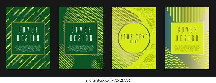 Modern cover page design for your business. Template in A4. Can be used for poster, brochure, magazine, card, book, flyer, banner. Trendy corporate style with bauhaus, memphis and hipster elements.