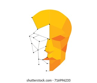 Modern Creative Biometric Face Verification Technology Logo