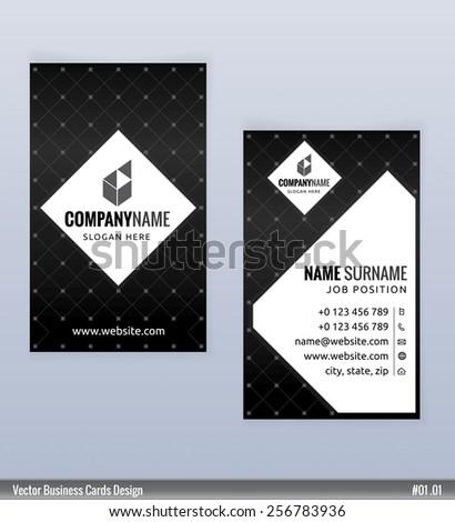 Modern creative black white business card stock vector royalty free modern creative black and white business card template vector flashek Choice Image