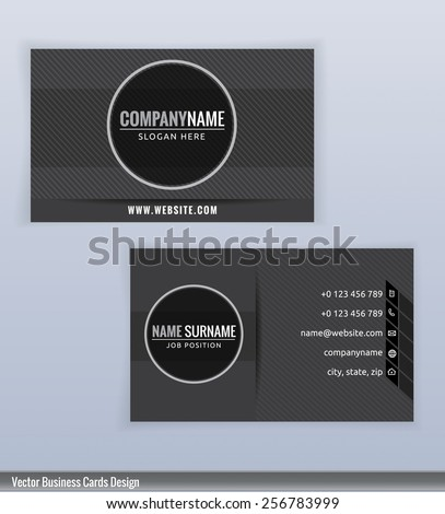 Modern Creative Black White Business Card Stock Vector Royalty Free