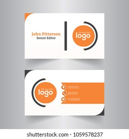 modern creative business card and name card,horizontal simple clean template vector design, layout in rectangle size.