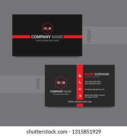 modern creative business card and name card,horizontal simple clean template vector design. - Vector