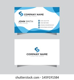Modern creative business card simple layout template vector design background