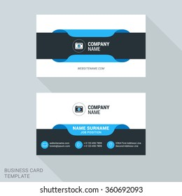 Modern Creative Business Card Template. Flat Design Vector Illustration. Stationery Design