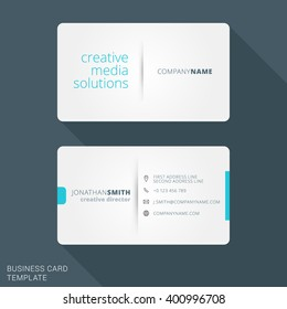 Calling card images stock photos vectors shutterstock modern creative business card template flat design vector illustration stationery design reheart Choice Image