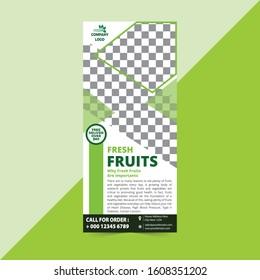 Modern and Creative Business Rack Card, Fruit Rack Card Template Designs