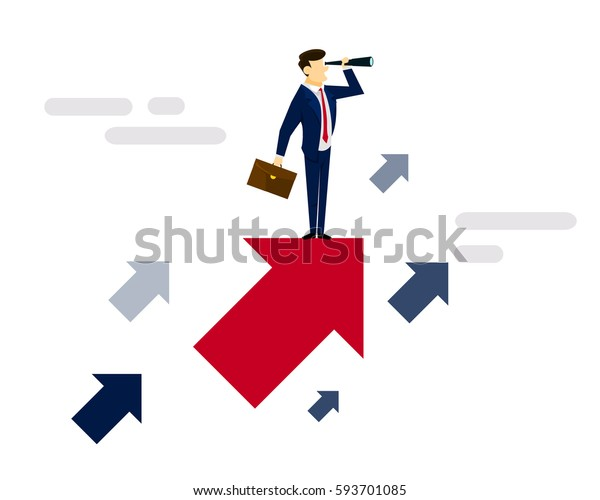 Modern Creative Business Strategy Illustration Concept - New Profitable Business Model Discovery Journey