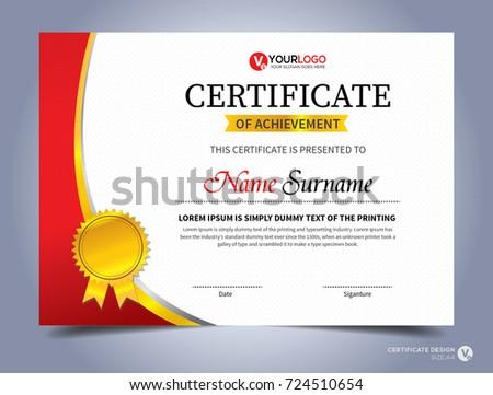 modern creative certificate appreciation award template stock vector