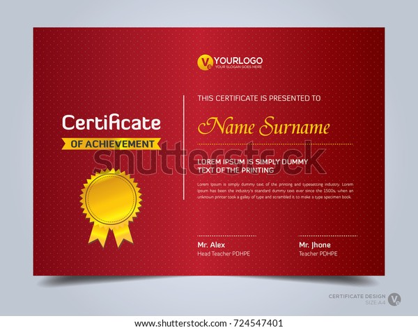 Modern Creative Certificate Appreciation Award Template