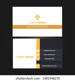 Modern Creative and Clean Business Card Design Print Templates. Flat Style Vector Illustration.