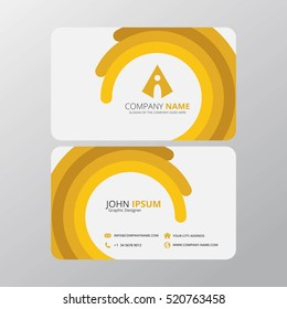 Modern Creative and Clean Business Card Design Print Templates. Flat Style Vector Illustration