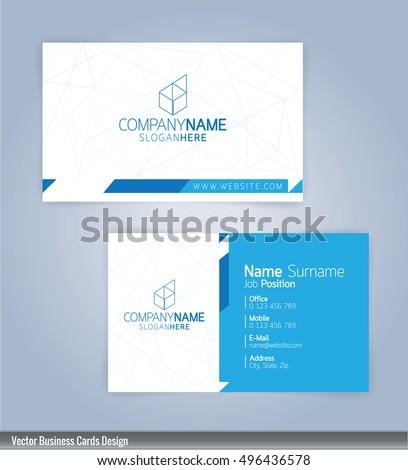 modern creative clean business card design のベクター画像素材