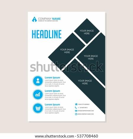 modern creative clean business flyer design stock vector royalty