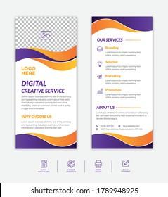 Modern, creative, clean, professional & business dl flyer & rack card vector template design