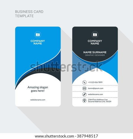 Modern Creative Clean Two Sided Business Stock Vector Royalty Free