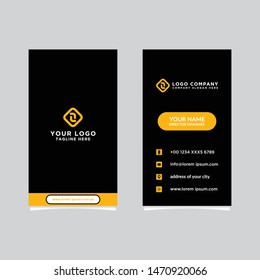 Modern, Creative and Clean Vector Design Business Card Template. Vertical Template