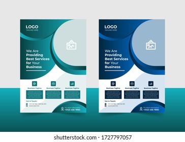 Modern Creative Corporate Professional business flyer design template