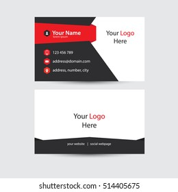 Modern And Creative Design Of Business Card. Clean Business Card Template. Vector Illustration
