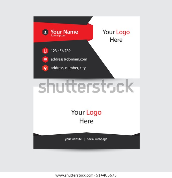 Modernes Und Kreatives Design Der Visitenkarte Stock